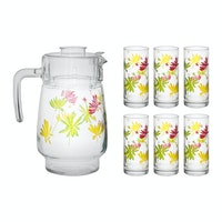 Luminarc Beverage Set 7 pcs Tivoli Crazy Flower
