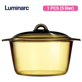 Luminarc Vitroline Amberline Blooming Casserole 5L - 1 pcs