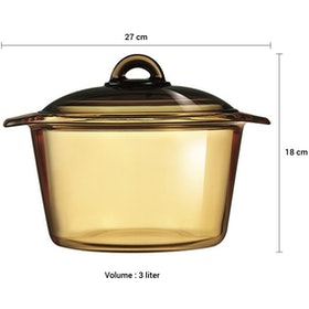 Luminarc Vitroline Amberline Blooming Casserole 3L - 1 pcs