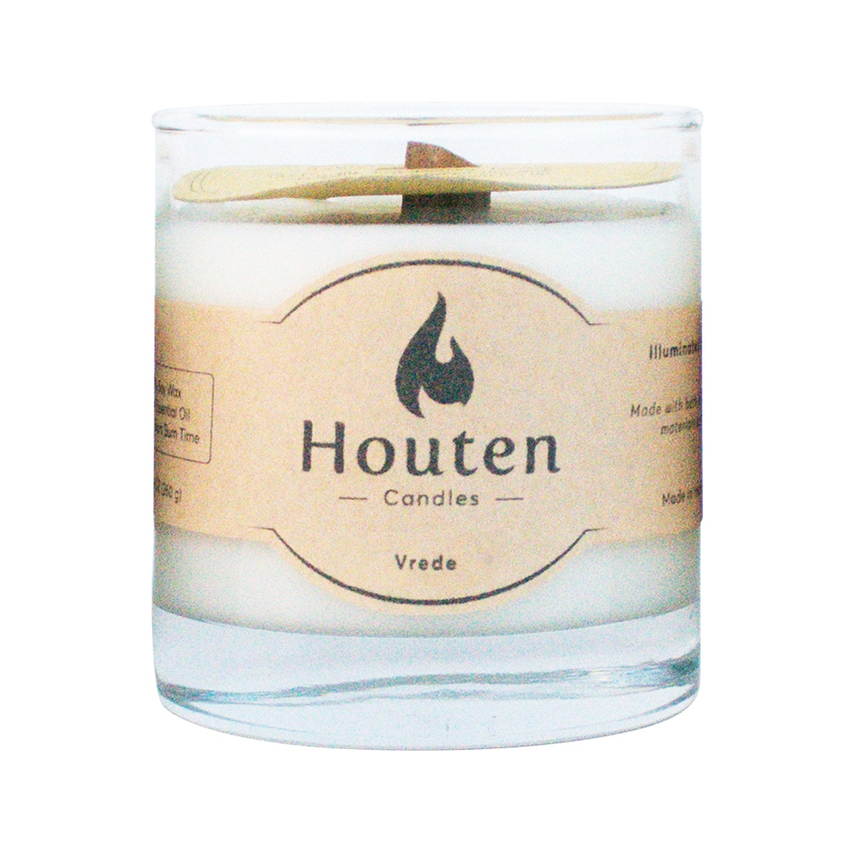 Houten Candles Premium Soy Candles Vrede 250ml