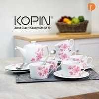 Kopin Zetta Cup N Saucer Set Of 19