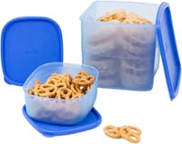 Medina Azalea Snack Container Square (Set of 3) Blue