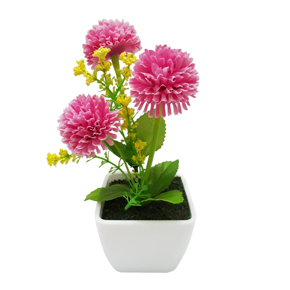 In Bloom Florist Pom Pom Pink Vas Putih
