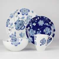 ZEN Dinner Set Batik Floral 16pcs