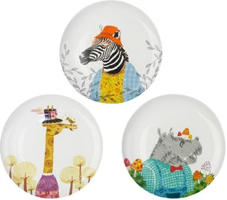 ZEN Piring Animal Summer Girrafe, Hippo, Zebra (3pcs)