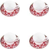 ZEN Cangkir (Tea Set) Royal Lotus - Merah 4 Set