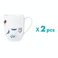 ZEN Mug Snowy Blue - Putih 378ml 2pcs