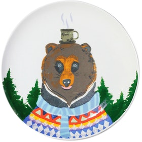ZEN Piring Animal Drinking Series - Bear Beruang diameter 22cm