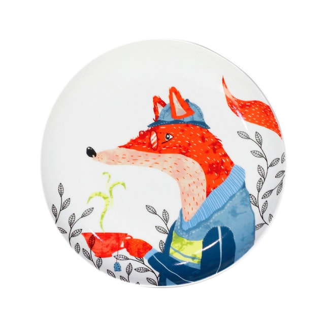 ZEN Piring Animal Drinking Series - Fox Rubah diameter 22cm