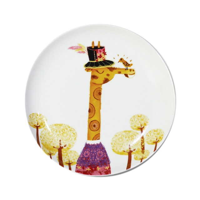 ZEN Piring Animal Summer Series - Giraffe Jerapah diameter 22cm