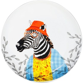 ZEN Piring Animal Summer Series - Zebra diameter 22cm