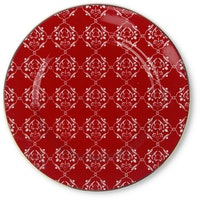 ZEN Piring Christmas Red - Merah diameter 21cm