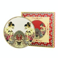 ZEN Ghea Coupe Dinner Plate Wayang Ivory + Giftbox 27 cm