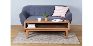 Isjava Furniture Coffee Table GL 006 Brown