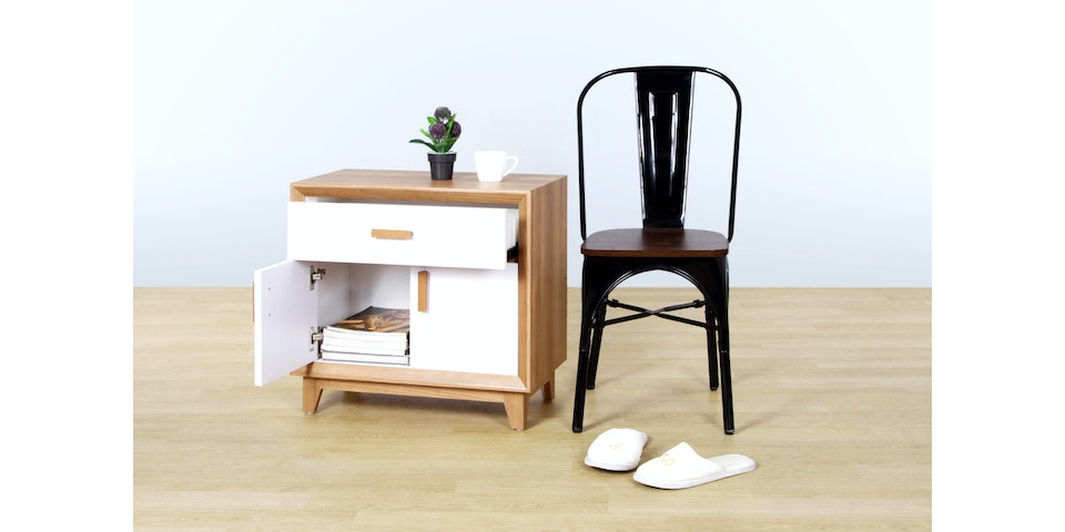 Isjava Furniture Glenmore Side Table Brown