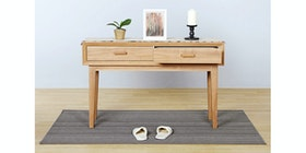 Isjava Furniture Glenmore Console Brown