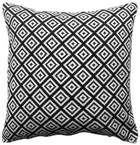 Maiika Webbing Canvas Black Cover Cushion 45x45cm