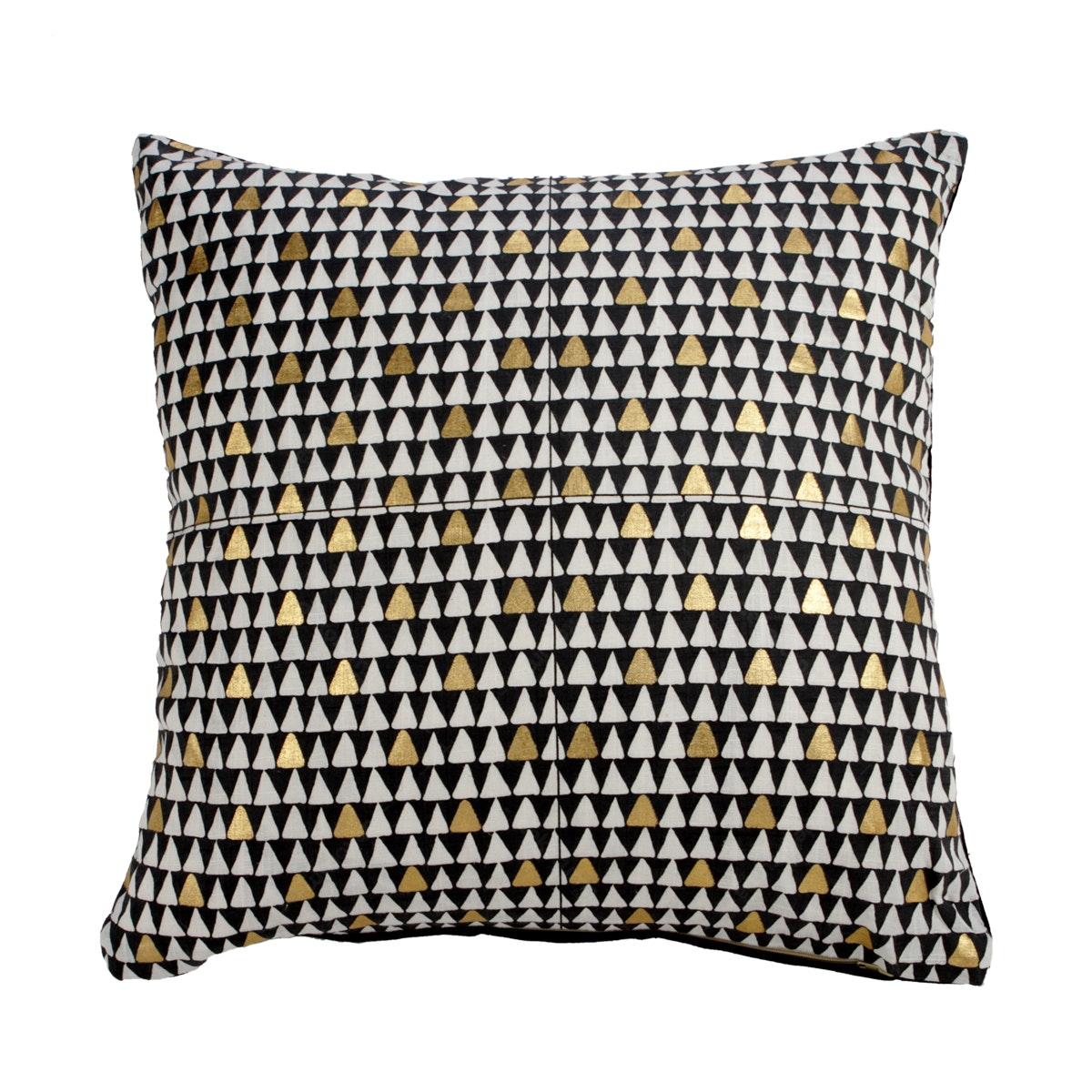 Maiika Triangle Canvas Black Gold Cover Pillow 45x45cm