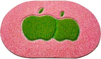 Maiika Fancy Oval Apple Red Mat 40x60 CM