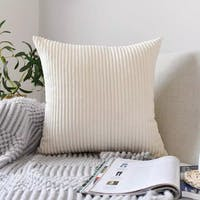 Maiika Corduroy Solid- Off White- Cover Pillow 45x45 CM
