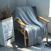 Maiika Knit Blanket Cello- Abu-abu- Throw Blanket 130x220 CM