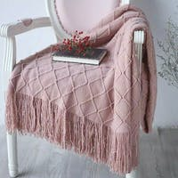 Maiika Knit Blanket Lira- Merah muda- Throw Blanket 127x230 CM