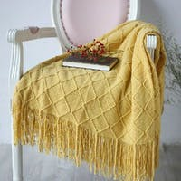 Maiika Knit Blanket Lira- Kuning- Throw Blanket 127x230 CM