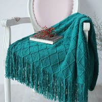 Maiika Knit Blanket Lira- Hijau- Throw Blanket 127x230 CM
