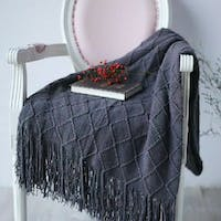Maiika Knit Blanket Lira- Abu-abu- Throw Blanket 127x230 CM