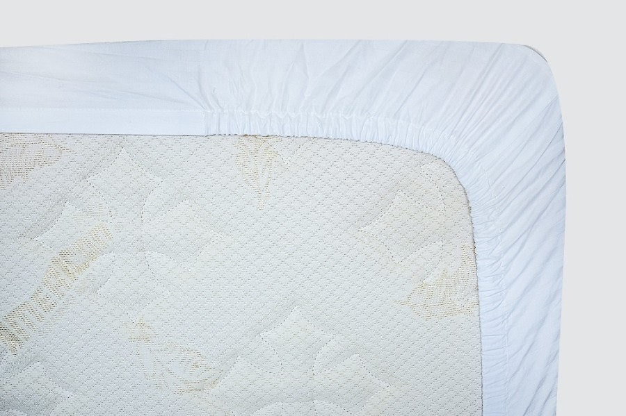 Indolinen Fitted Sheet - White Plain Queen 160x200x30 Tc-200