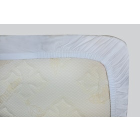 Indolinen Fitted Sheet - White Plain TC-200 Queen 160x200x30