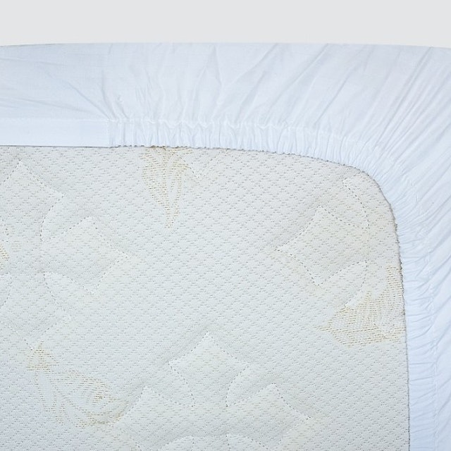 Indolinen Fitted Sheet - White Plain TC-300 Twin 100x200x30