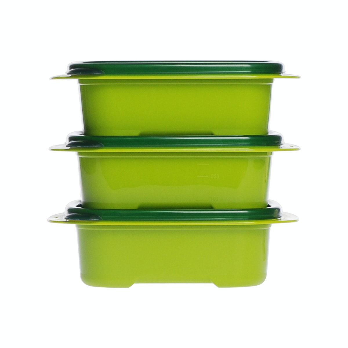 Informa Kay Food Container Rect 600Ml Grn Set 3