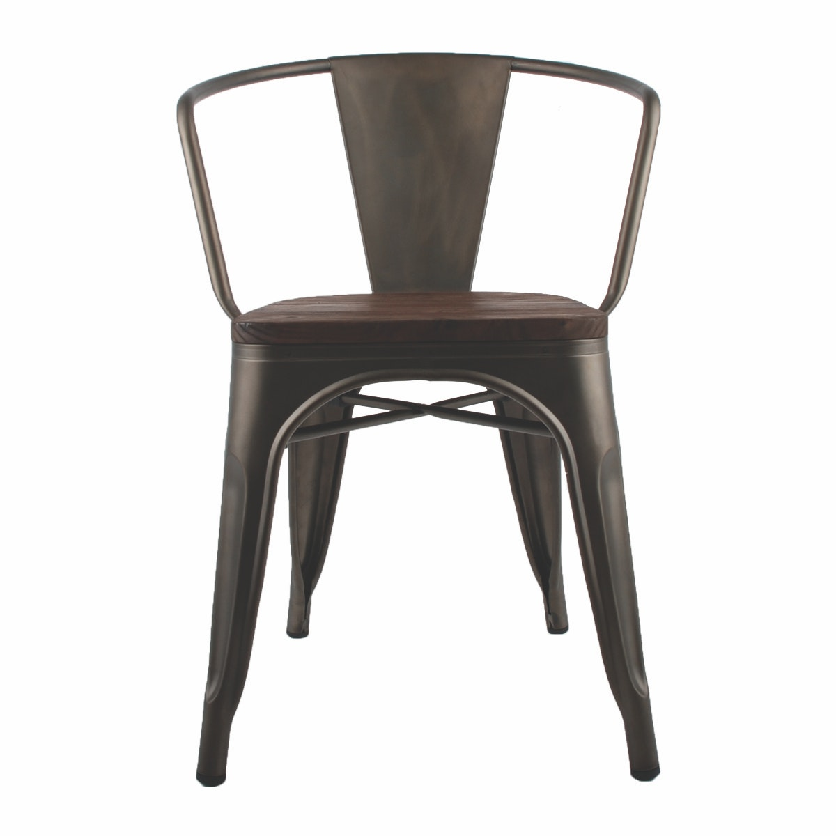 Informa London Elm with arm Dining Chair Hitam