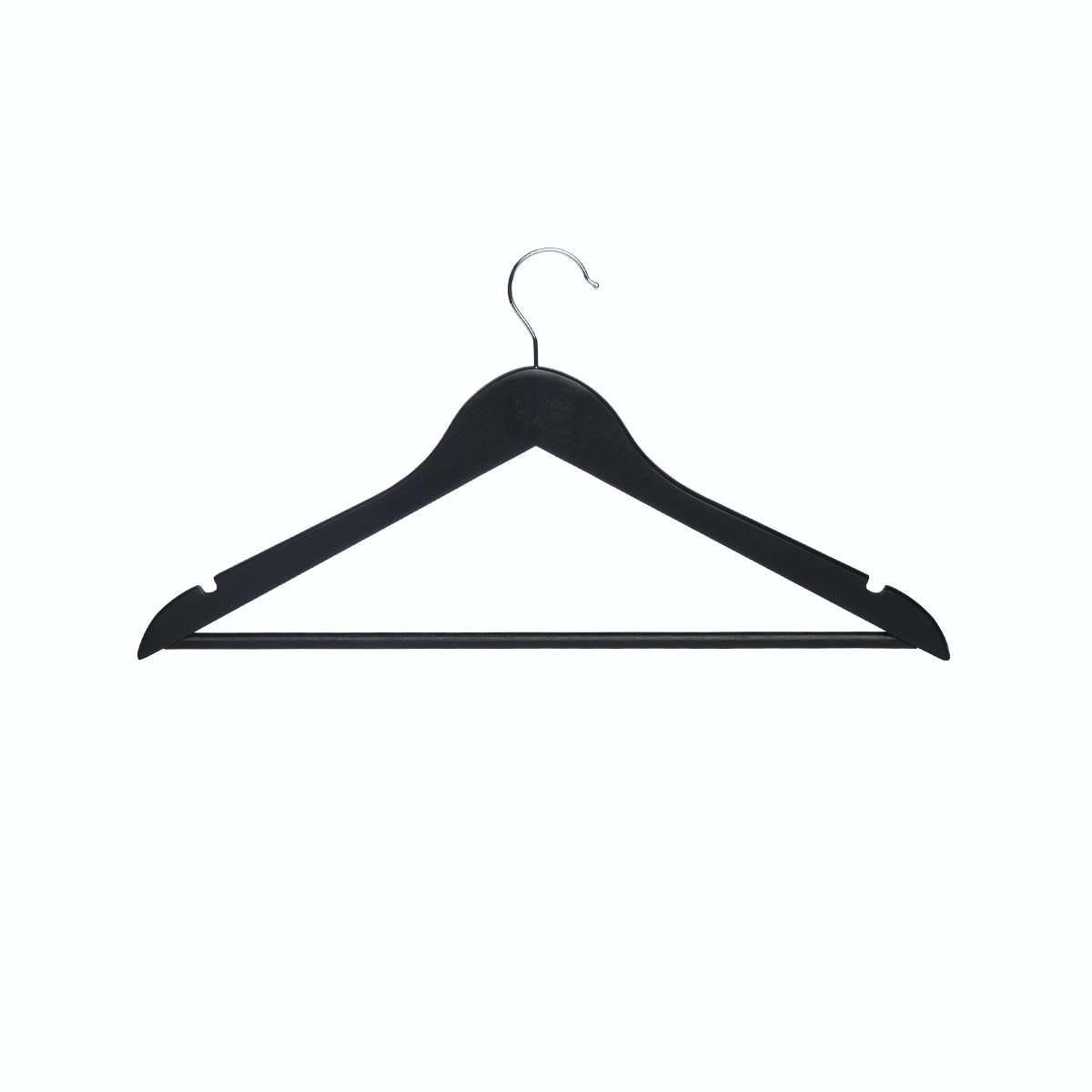 Informa Wood Cloth Hangers (8) Black