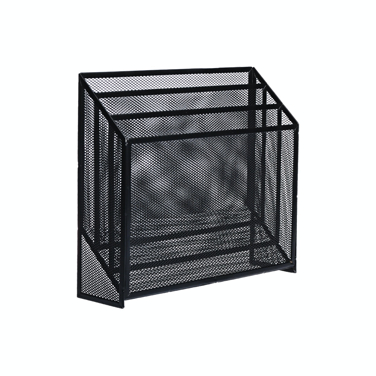 Informa Mesh Magazine Holder 3 Tier Bl