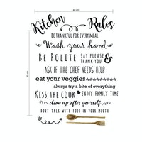 iwallyou Wall Sticker Kitchen Rules