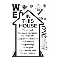iwallyou Wall Sticker 'In This House'
