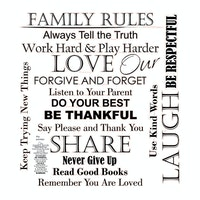 iwallyou Wall Sticker Our Family Rules