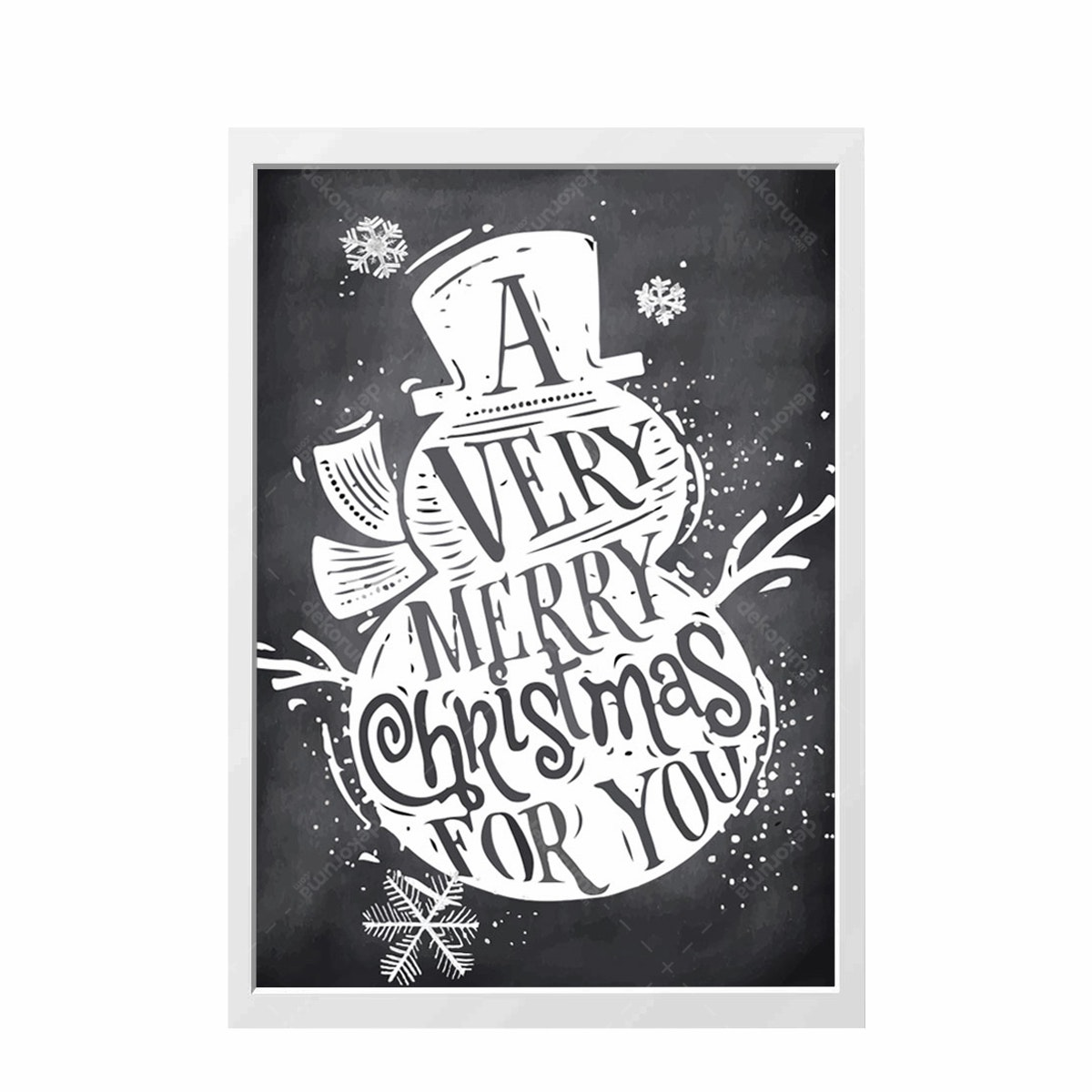 iwallyou Wall Poster Seasonal Christmas Greeting With Snowman