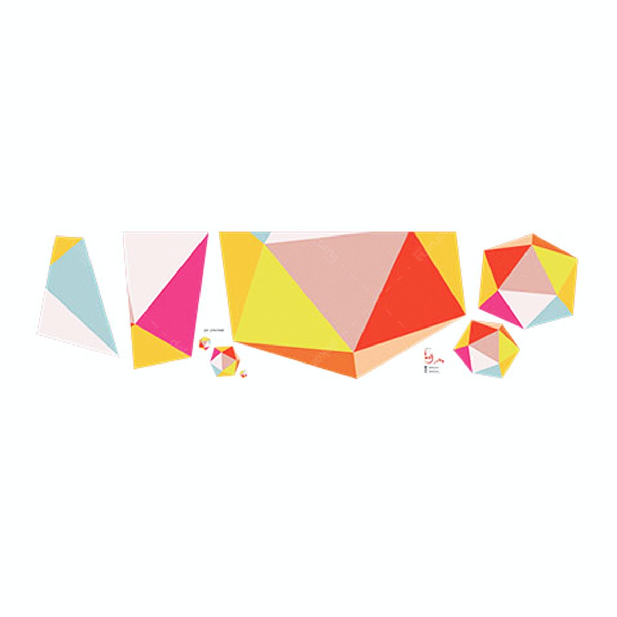 iwallyou Wall Sticker Geometric Hexagon