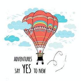 iwallyou Wall Sticker Traveling With Baloon