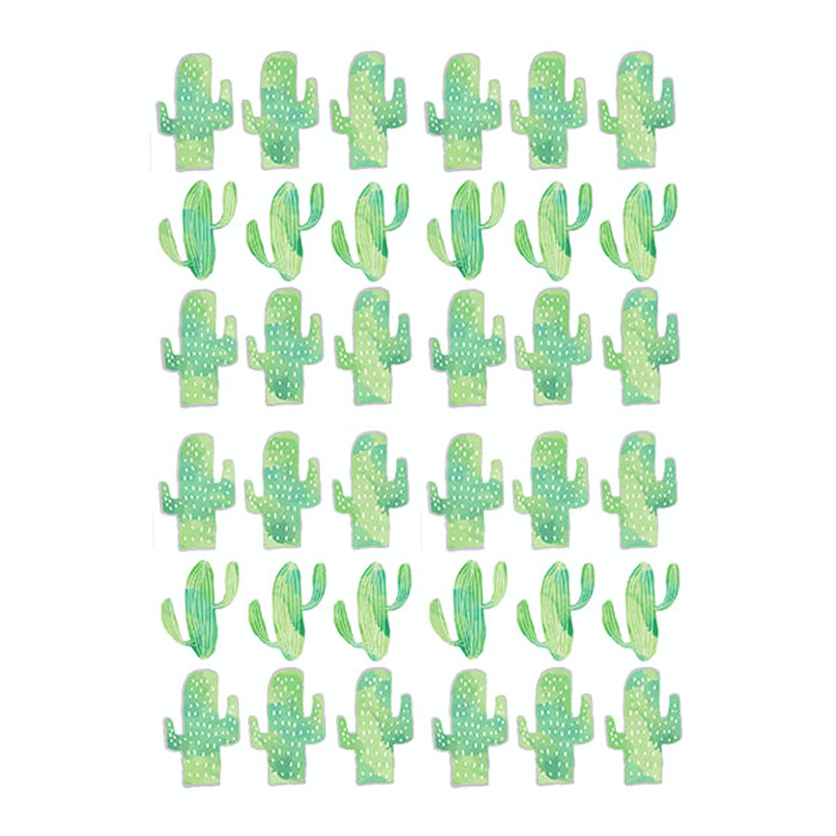 iwallyou Wall Sticker Pernik Cactus Green