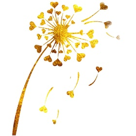 iwallyou Wall Sticker Living Room Gold Dandelion