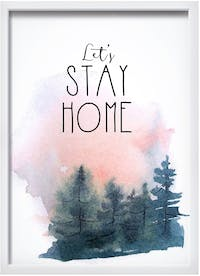 Codeco Wall Poster Lets Stay Home
