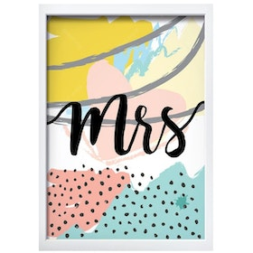 iwallyou Wall Poster Couple Mr & Mrs