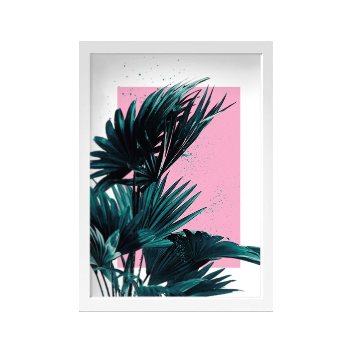 iwallyou Wall Poster Palm Dekorasi Dinding Dengan Aksen Palm Kipas On Pink Background