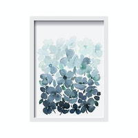 iwallyou Wall Poster Floral Blue