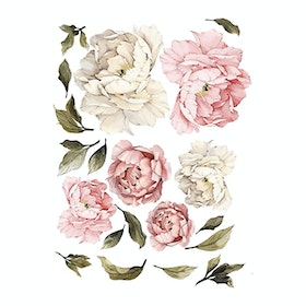 iwallyou Wall Sticker Pink Peonies