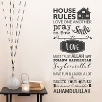 iwallyou Wall Sticker House Rules Moslem